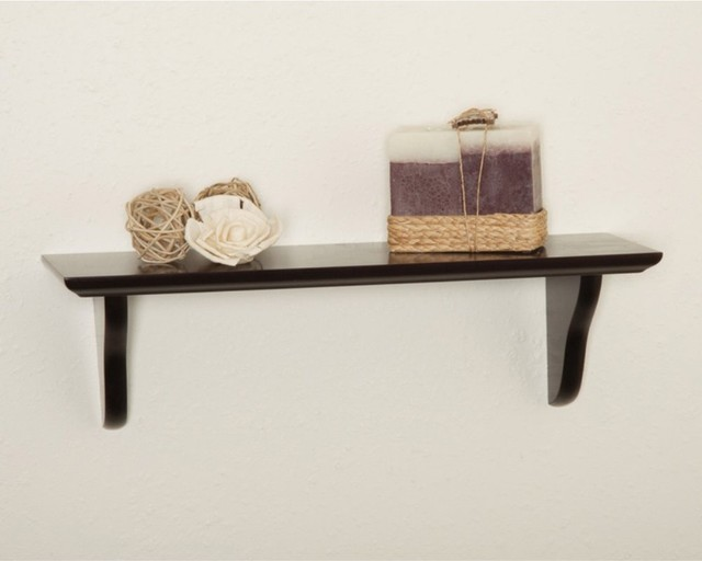 ... 16W x 5D in. features slim, beveled edges and two modern-wall-shelves