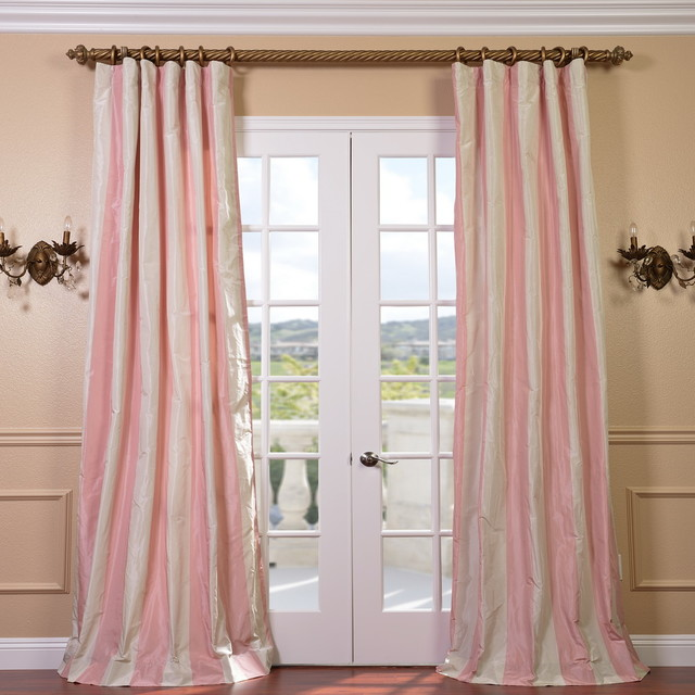 Pink And Cream Striped Curtains Navy and Cream Striped Curtains