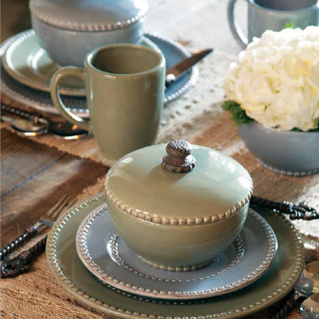 Livingstone Dinnerware Collection in Green by The GG Collection contemporary-dinnerware