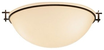 """Arts and Crafts - Mission Hubbardton Forge 16"""" Wide Moonband Ceiling Light modern-ceiling-lighting"""
