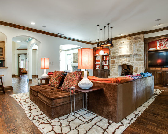Moroccan Modern Residence - Oversized, Hand Knotted, Moroccan Rug made in Turkey.