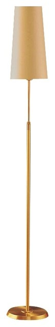Contemporary Holtkoetter Brushed Brass Narrow Kupfer Shade Floor Lamp contemporary-floor-lamps
