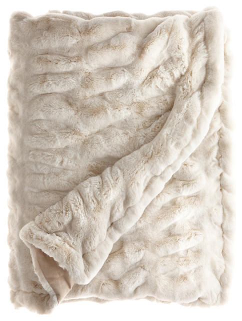 Faux Fur Throw contemporary throws