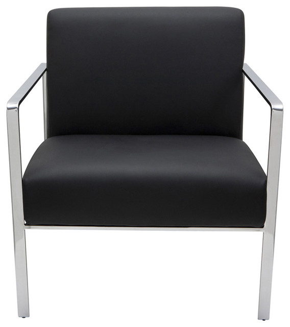 Risa Lounge Chair, Black Leather contemporary-armchairs-and-accent-chairs