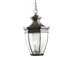 Kichler Lighting 9371TZ Warrington Tannery Bronze Outdoor Lantern traditional-outdoor-lighting