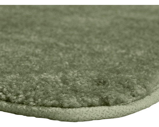 "Sands Rug - Plush Deluxe Washable Bath Rug (1'10"" x 5') - Relish the luxurious softness of the Plush Deluxe bathroom collection. Add a note of tasteful color to your most relaxing space, while enjoying the easy-to-clean features of nylon and the added safety of each rug's non-skid backing."