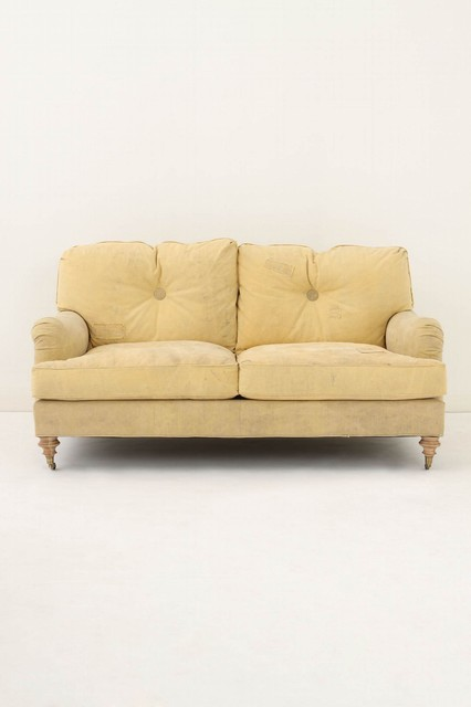 Winifred Settee, Truck Tarp eclectic love seats