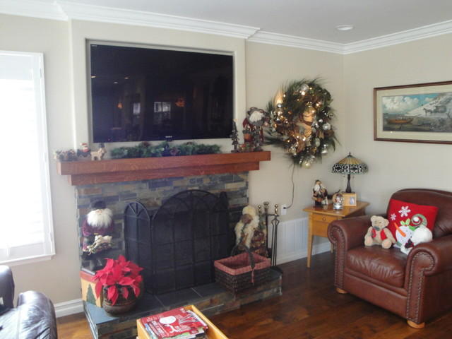Arts and Crafts Remodel in Huntington Beach craftsman-indoor-fireplaces