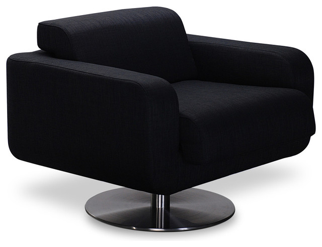 Rocks Black Lounge Chair contemporary-accent-chairs