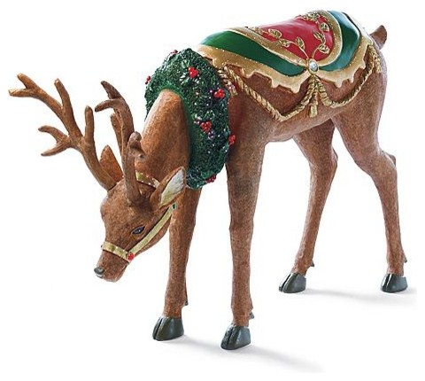 Reindeer outdoor christmas decorations traditional holiday outdoor