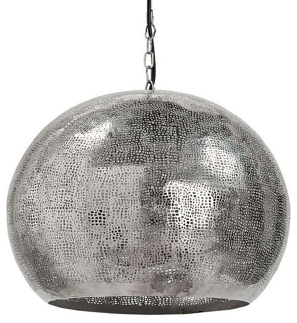 Regina Andrew Pierced Metal Sphere Pendant contemporary pendant lighting