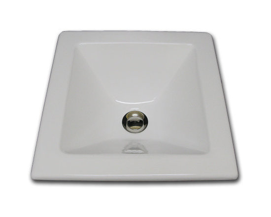 Square Ceramic Sink - XB-79-100 square self rimming sink