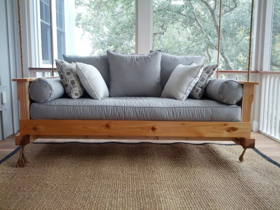 Cedar Swing Bed by Charleston Swing Beds contemporary-patio-furniture ...