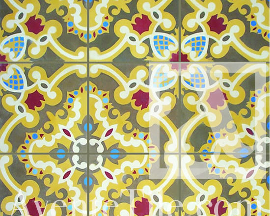 """Traditional Sosua Cement Tile 8"""" x 8"""" -"""