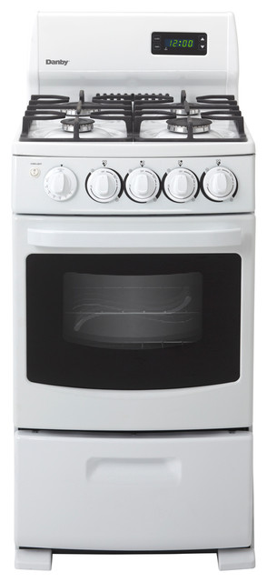 """20"""" Gas Range-White gas-ranges-and-electric-ranges"""