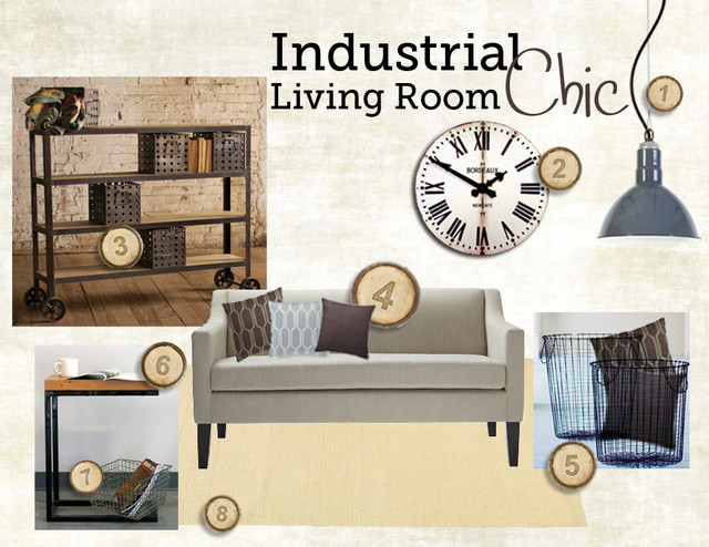 Industrial chic living room style guide modern tampa for Industrial living room ideas