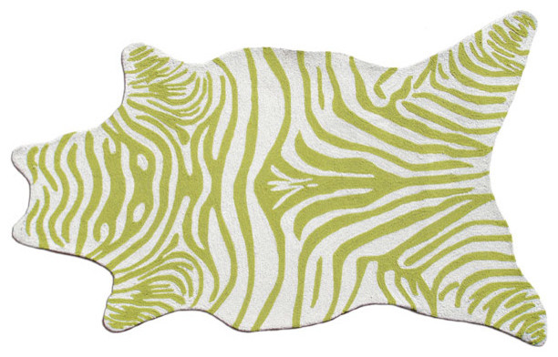 Indoor/Outdoor Zebra Rug modern kids rugs