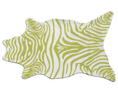 Indoor/Outdoor Zebra Rug modern-kids-rugs