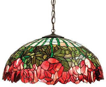 Cabbage Rose Medium Tiffany Pendant - Available at GrandLight.com pendant-lighting