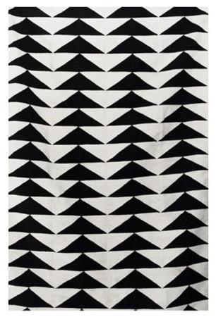 Black / White Rug modern-rugs
