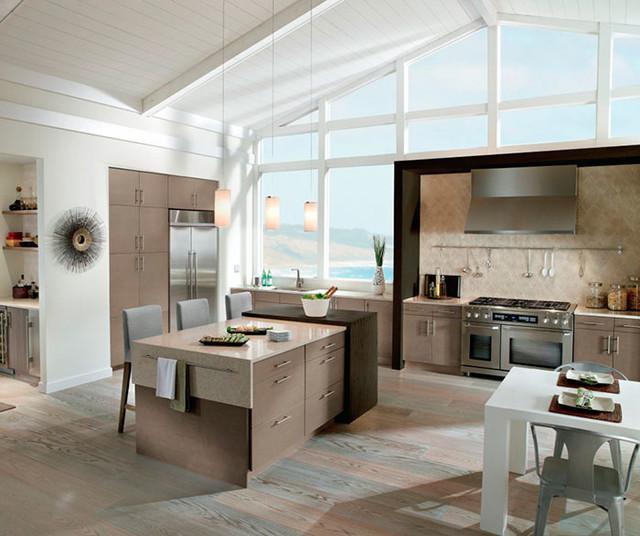 Light Grey Kitchen Cabinets in White Oak  Kitchen Craft  Serving