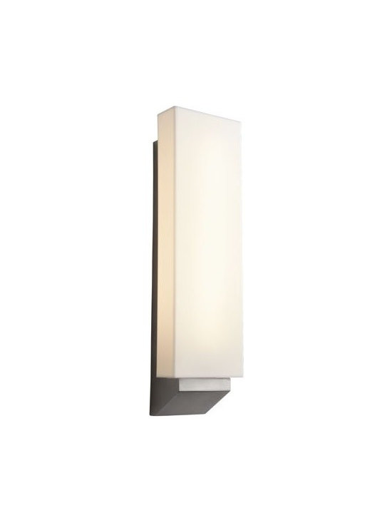 Oxygen Lighting - Oxygen Lighting | Polaris LED Wall Sconce - Design by Oxygen Lighting. The Polaris LED Wall Sconce artfully combines quality craftsmanship and simple design aesthetics to create a versatile wall sconce that effortlessly blends with a variety of modern interior decors. Comprised of a steel structure and a matte white acrylic diffuser that houses the LED light source, this modern lighting fixture is perfect for providing diffused, ambient illumination for hallways, bathrooms, bedrooms, dining rooms, and living room spaces.  Product Features: