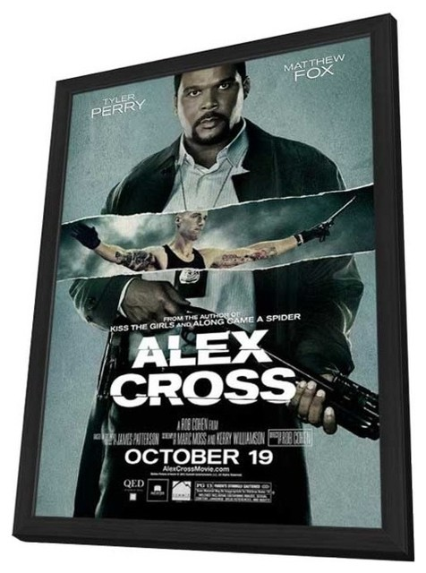 Alex Cross 11 x 17 Movie Poster - Style B - in Deluxe Wood Frame prints-and-posters