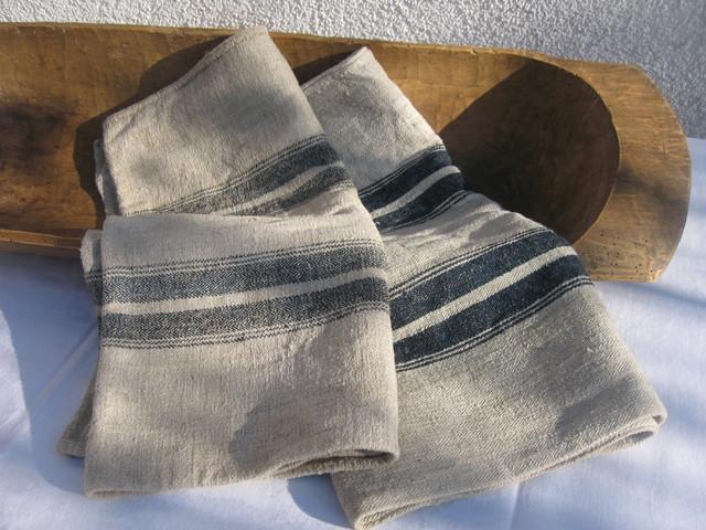Vintage european german grain sacks upholstery fabric