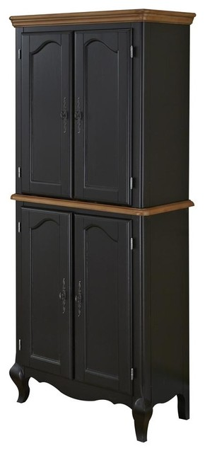 Oak and Rubbed Black Pantry traditional-pantry-cabinets