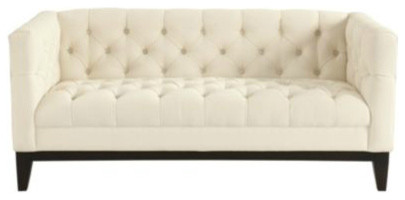 Sablon Tufted Loveseat modern love seats