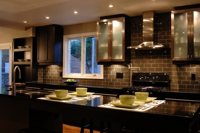 Dark elegance kitchen modern kitchen other metro for Custom modern kitchen cabinets