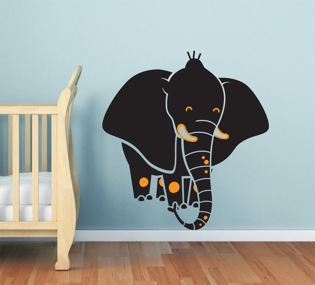 Baby Nursery Elephant Wall Decal Modern Nursery Decor Seattle By Cherry Walls
