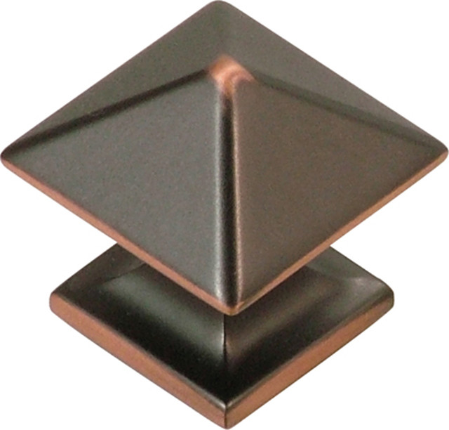 square studio collection oil rubbed bronze cabinet knob 1