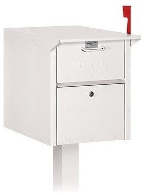 Mail Chest - White traditional-mailboxes