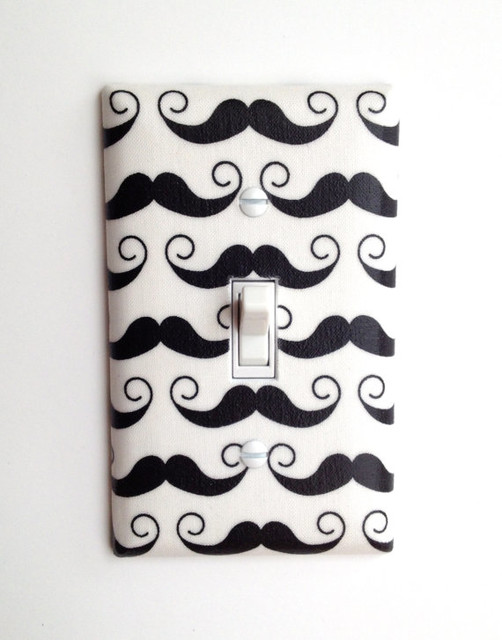 Mustache Light Switch Plate Cover by Slightly Smitten Kitten Designs - Eclectic - Switch Plates ...