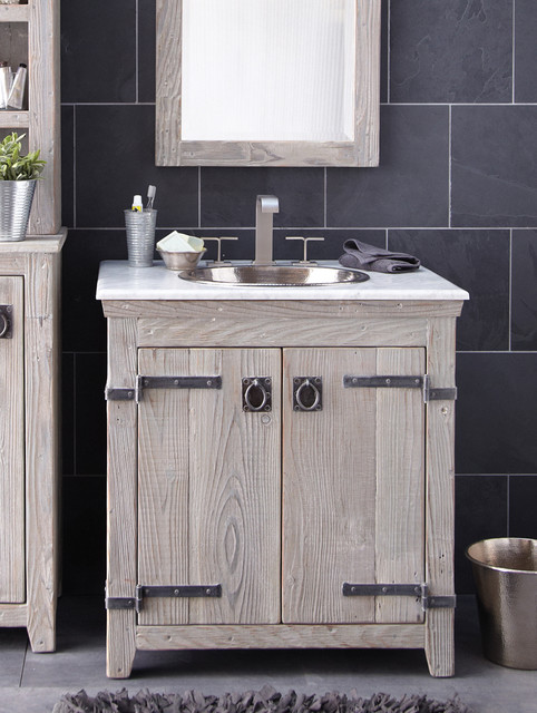 vanity in driftwood country bathroom vanity units sink cabinets