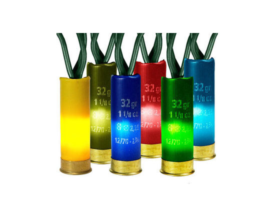Multi Shotgun Shell Lights - Length 14 ft. - Bulb Spacing 3 in. - Green Wire - 120V