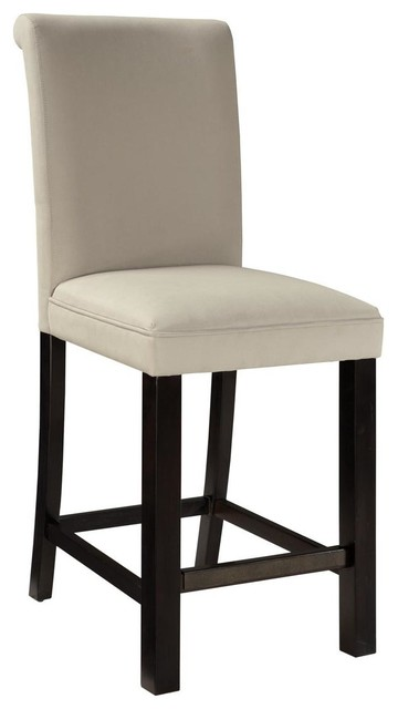 Standard Furniture Gateway Parsons Barstool in Dark Chicory Brown [Set of 2] traditional-bar-stools-and-counter-stools