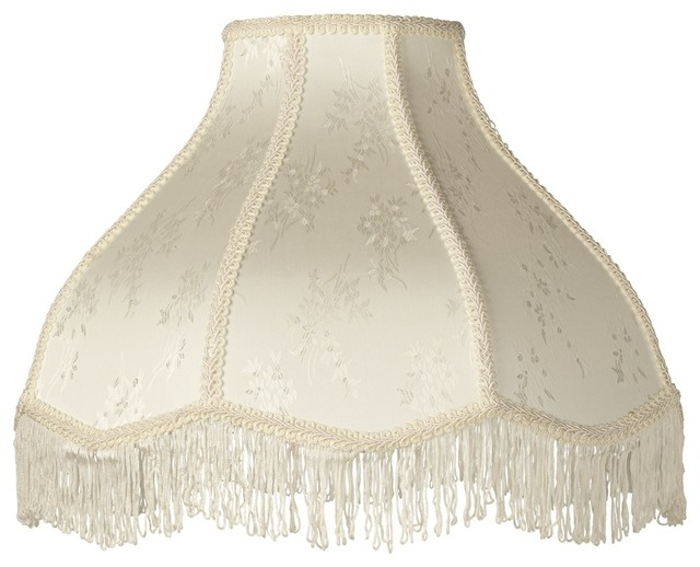 Traditional Wall Lamp Shades : Traditional Cream Scallop Dome Lamp Shade 6x17x12x11 (Spider) - Traditional - Lamp Shades - by ...