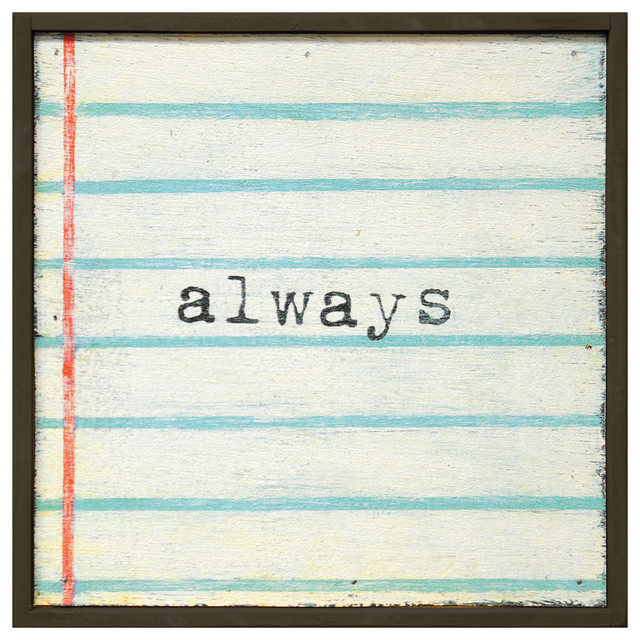 Always' Lined Notebook Reclaimed Wood Small Wall Art transitional-novelty-signs
