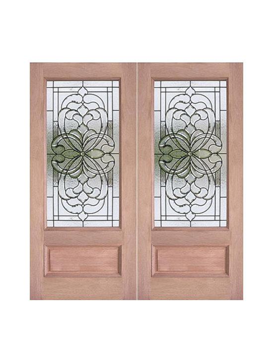 """Decorative 3/4 Lite, Prehung Mahogany Double Front Door, 72x80 - SKU#PL-72_2BrandAAWDoor TypeExteriorManufacturer CollectionBudget DoorsDoor ModelDoor MaterialWoodgrainVeneerPrice1740Door Size Options2(36"""") x 80"""" (6'-0"""" x 6'-8"""")  $0Core TypeDoor StyleDoor Lite Style3/4 LiteDoor Panel Style1 Panel , Raised MouldingHome Style MatchingBay and Gable , Bungalow , Elizabethan , Plantation , VictorianDoor ConstructionEngineered Stiles and RailsPrehanging OptionsPrehungPrehung ConfigurationDouble DoorDoor Thickness (Inches)1.75Glass Thickness (Inches)3/4Glass TypeTriple GlazedGlass CamingBrass , BlackGlass FeaturesTempered , InsulatedGlass StyleGlass TextureGlass ObscurityDoor FeaturesDoor ApprovalsDoor FinishesDoor AccessoriesWeight (lbs)850Crating Size25"""" (w)x 108"""" (l)x 52"""" (h)Lead TimeSlab Doors: 7 daysPrehung:14 daysPrefinished, PreHung:21 daysWarranty"""