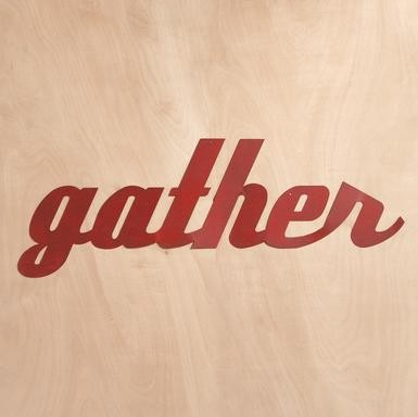 """""""GATHER"""" SIGN from  Sundance traditional-artwork"""