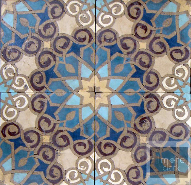 Patterson Encaustic ~ Filmore Clark eclectic kitchen tile