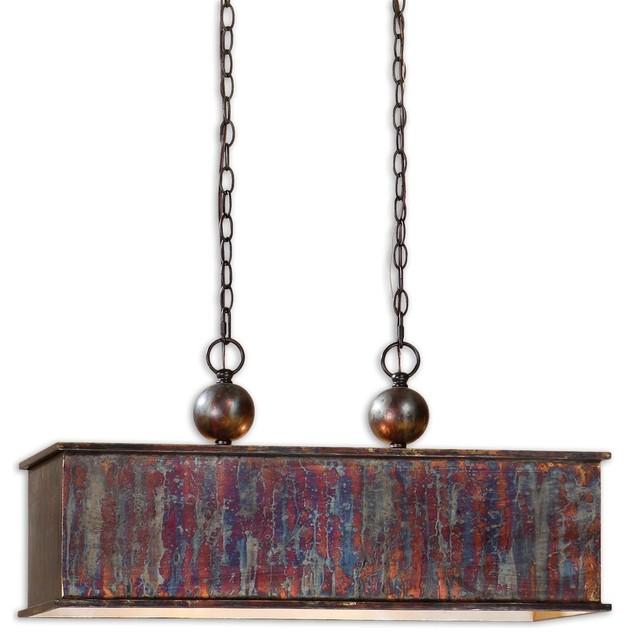Albiano Rectangle 2 Lt Bronze Pendant traditional-pendant-lighting