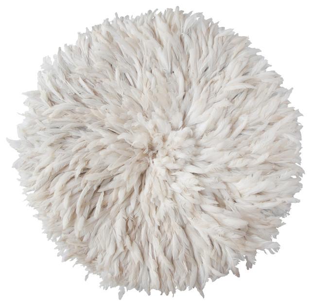 Bamileke Feather Headdress White Modern Artwork Melbourne By