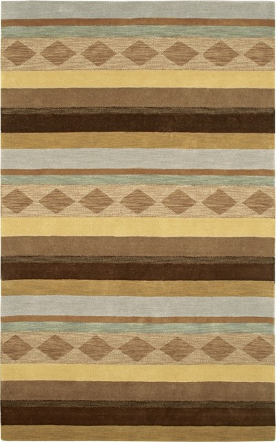 Arts and Crafts - Mission Auckland Collection Aurora Wool Area Rug modern-rugs