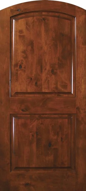 Slab exterior interior single door 80 wood alder 2 panel arch top rustic front doors tampa for 2 panel arch top interior doors