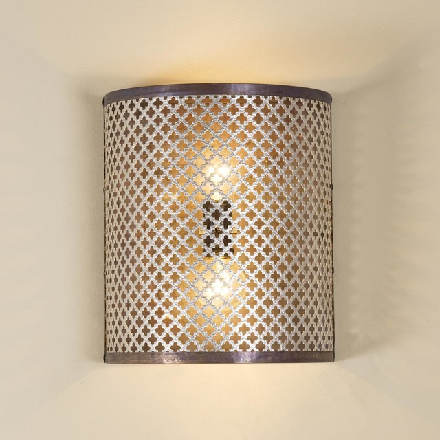 Quatrefoil Cutout Wall Sconce - Wall Sconces - by Shades of Light