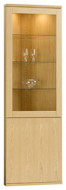 Solid Oak Corner Cabinet modern-china-cabinets-and-hutches