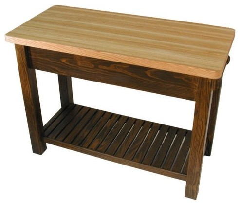 Caney Creek Prep Table With Butcher Block Top Modern